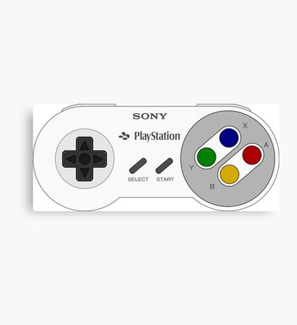 SNES PLAYSTATION Canvas Print