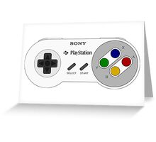 SNES PLAYSTATION Greeting Card