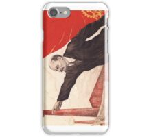 Sovjet Poster: The Ghost of Communism is in Europe (Lenin) iPhone Case/Skin