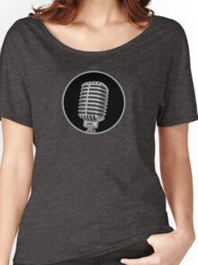 Old Vintage Microphone Women's Relaxed Fit T-Shirt