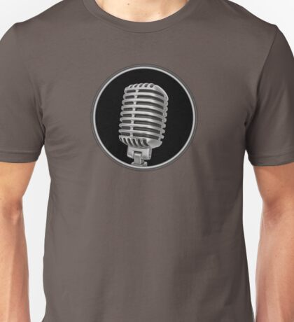 Old Vintage Microphone Unisex T-Shirt