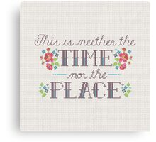 Neither the Time Nor Place Canvas Print