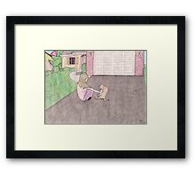charlotte in the driveway Framed Print