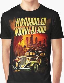 Hardboiled Wonderland Film Noir Design Graphic T-Shirt