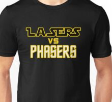 Lasers VS Phasers Unisex T-Shirt
