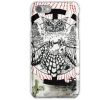 Nostradamus is a  great horned owl that lives in my neighborhood. iPhone Case/Skin