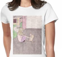 charlotte in the driveway Womens Fitted T-Shirt