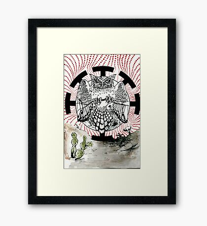 Nostradamus is a  great horned owl that lives in my neighborhood. Framed Print