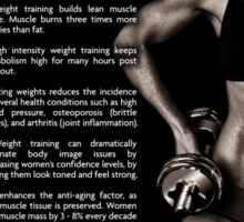 Why Women Should Lift Weights Sticker