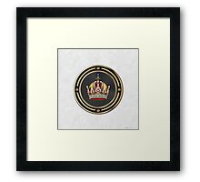 Imperial Crown of Austria over White Leather Framed Print