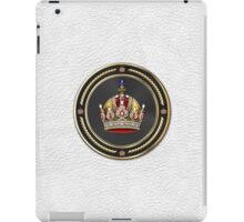 Imperial Crown of Austria over White Leather iPad Case/Skin