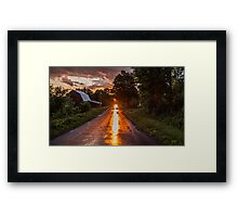 Redreaming Hathaway Road in Gold  Framed Print