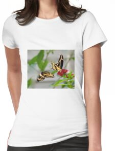 Tiger Swallowtail Courtship Womens Fitted T-Shirt
