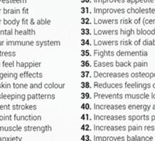 50 Reasons To Exercise Sticker