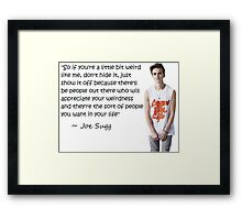 Joe Sugg - WEIRDNESS Framed Print