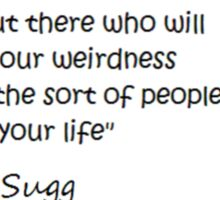 Joe Sugg - WEIRDNESS Sticker