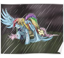 Dashie Saves Fluttershy (Blood) Poster