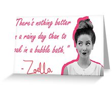 ZOELLA - RAINY DAYS Greeting Card