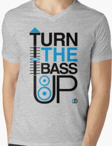 TURN THE BASS UP - Crossfader & Speaker DJ, Dark Mens V-Neck T-Shirt