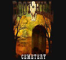 Wild West Boot Hill Cemetery Design Unisex T-Shirt