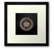 Imperial Crown of Austria over Black Velvet Framed Print