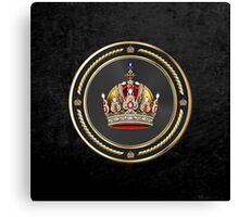 Imperial Crown of Austria over Black Velvet Canvas Print