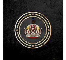 Imperial Crown of Austria over Black Velvet Photographic Print