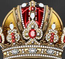 Imperial Crown of Austria over Black Velvet Sticker