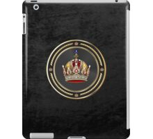 Imperial Crown of Austria over Black Velvet iPad Case/Skin