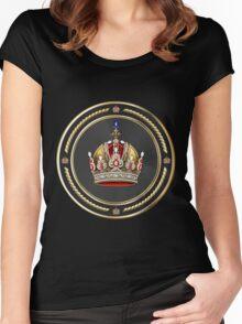 Imperial Crown of Austria over Black Velvet Women's Fitted Scoop T-Shirt