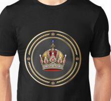 Imperial Crown of Austria over Black Velvet Unisex T-Shirt