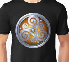 Orange Celtic Double Triskelion Unisex T-Shirt