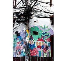 Wires Crossed Corner Photographic Print