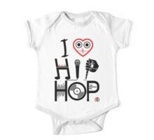 I Love Hip Hop - Music DJ Design - Dark Text One Piece - Short Sleeve