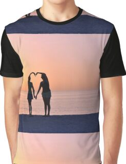 Heart Silhouette Graphic T-Shirt