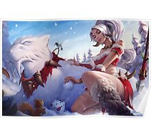 Nidalee - Snow Bunny Poster