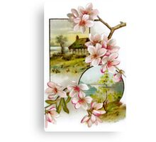 Victorian Pink Floral Canvas Print