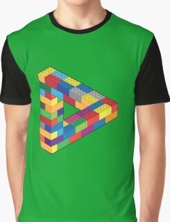 Play with Me: Lego Penrose Toy Triangle Impossible Object Illusion Graphic T-Shirt