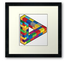 Play with Me: Lego Penrose Toy Triangle Impossible Object Illusion Framed Print