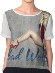 Blonde in a Union Jack...A specific one Chiffon Top