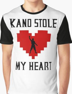 Mortal Kombat - Kano Stole My Heart Graphic T-Shirt