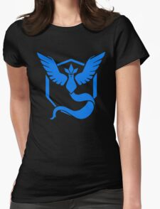 Pokemon Go | Team Mystic | Black Background | HUGE | New! | High Quality! Womens Fitted T-Shirt