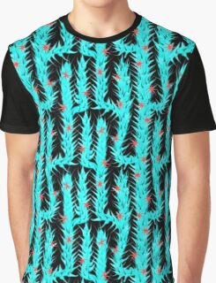 Cactus, blue, desert, pattern design, sample, ornaments, nature,  flowers Graphic T-Shirt