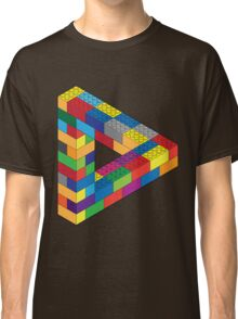 Play with Me: Lego Penrose Toy Triangle Impossible Object Illusion Classic T-Shirt