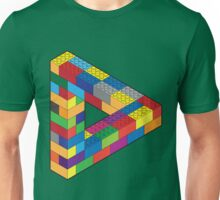 Play with Me: Lego Penrose Toy Triangle Impossible Object Illusion Unisex T-Shirt
