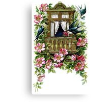 Vintage Birds and Flowers Canvas Print