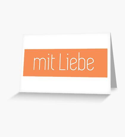 Mit Liebe Greeting Card