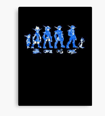 Jak and Daxter Saga - Blue Sketch Canvas Print