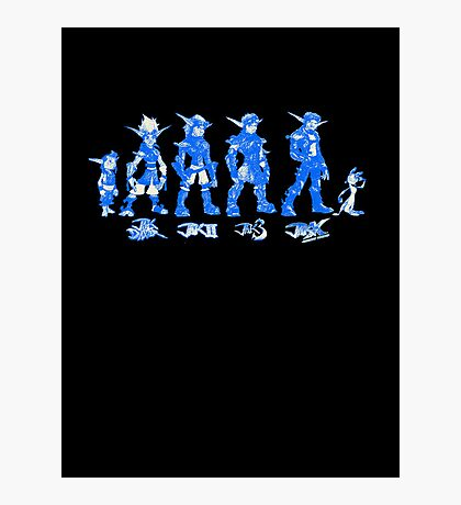 Jak and Daxter Saga - Blue Sketch Photographic Print