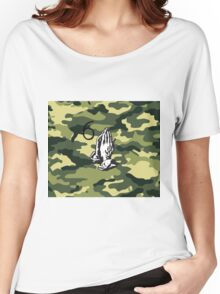 DRAKE CAMMO (6 God Praying Hands) Women's Relaxed Fit T-Shirt